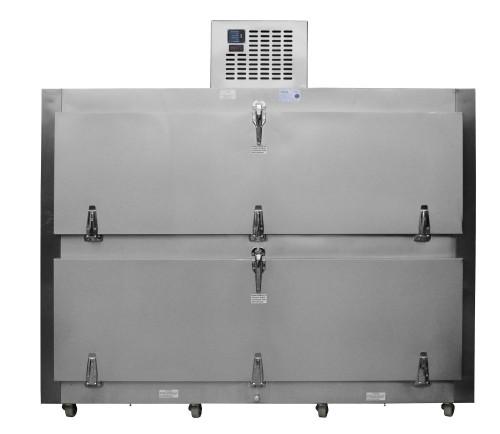 Refrigeradores para cadáveres. Refrigerador para Cadáveres para 2 Cuerpos con Salida por el costado