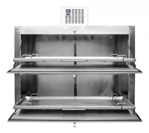 Refrigerador para Cadáveres para 2 Cuerpos con Salida por el costado