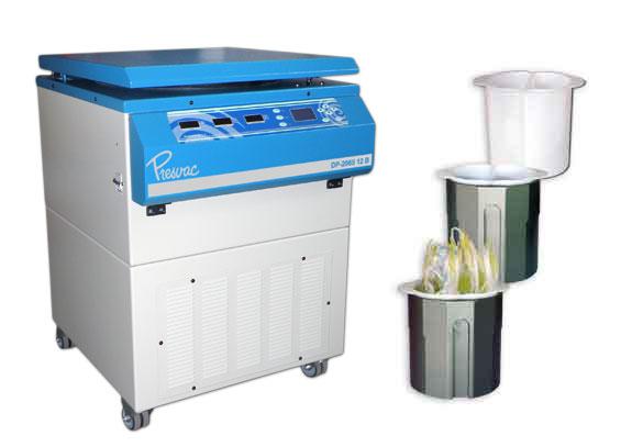 Centrifuga refrigerada para Banco de Sangre de 12 vasos