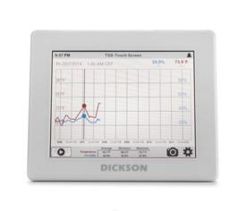 Sistema de supervisión de temperatura Data logger de temperatura con Pantalla Touchscreen con descarga vía USB
